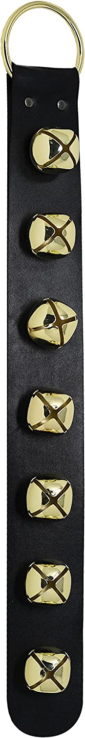 Home-X Gold Hanging Jingle Bells for Christmas Decor and Holiday Home Decorations