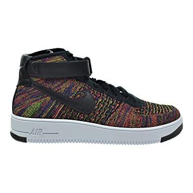 f80402d6b01 Nike AF1 Ultra Flyknit Mid Men s Shoes Black Bright Crimson Court  Purple Volt