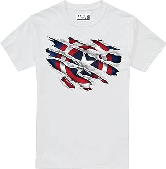 Marvel Captain America Torn Camiseta para Niños