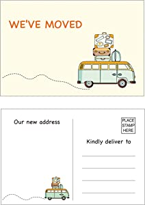 50 We've moved postcards, Moving Announcement Cards, Change of Address Card, Address Update Announcement, New Home Card