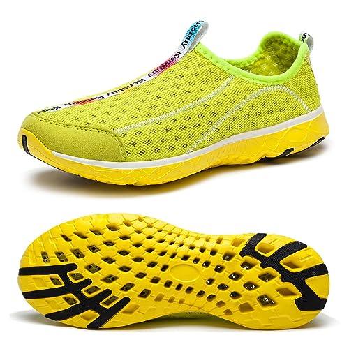Women's Quick Drying Mesh Slip On Water Shoes Lightweight Casual Aqua Shoes