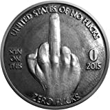 ZFG Inc. Zero F's Given Giftable Novelty Quarter Coin, Color Silver, The Middle Finger, 1-Coin