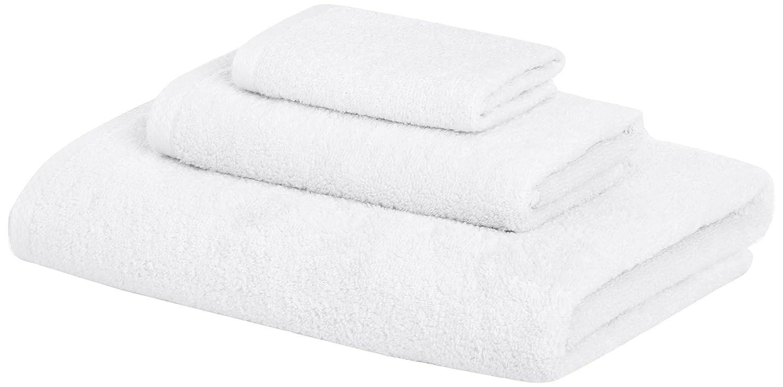 AmazonBasics Quick-Dry Towels - 100% Cotton, 3-Piece Set, White