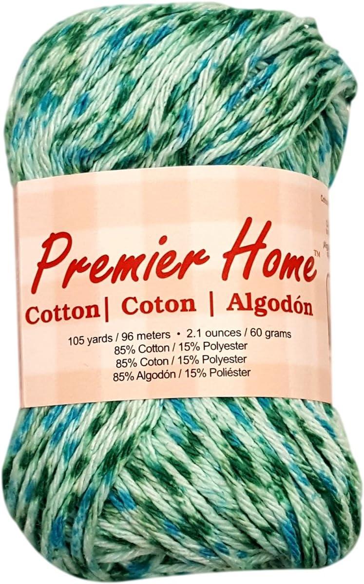 Premier Yarns 44-45 Home Cotton Yarn - Multi-Aquamarine Speckle