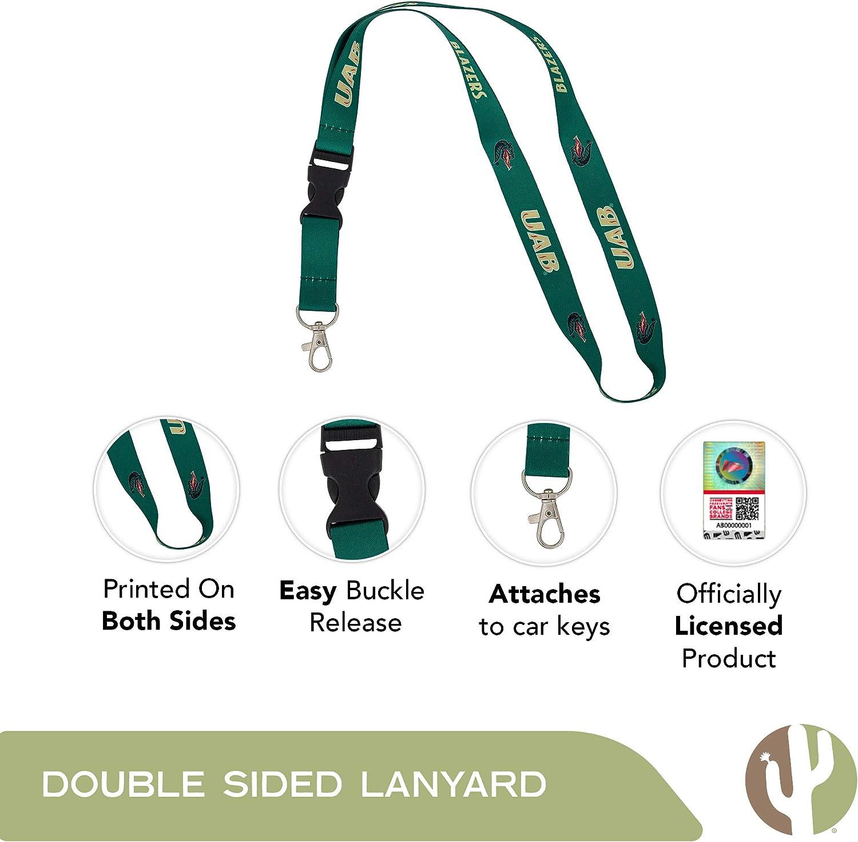 Emporia State University Hornets NCAA Car Keys College ID Badge Holder Lanyard Keychain Detachable Breakaway Snap Buckle w//Pouch