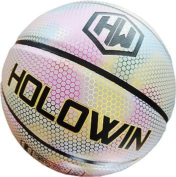 MITSOKU - Balón de Baloncesto Luminoso holográfico Reflectante ...
