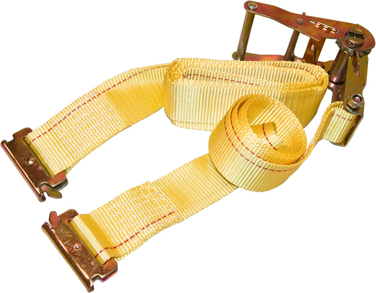 12 Pack Yellow E-Track Ratchet Straps 12' x 2'' Cargo Van Tie Downs