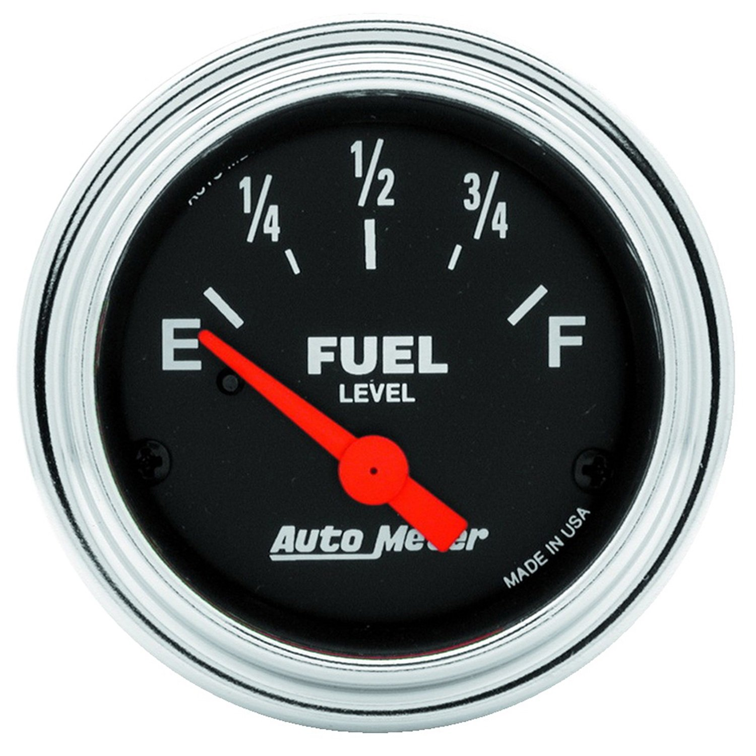 Auto Meter 2516 Traditional Chrome Electric Fuel Level Gauge