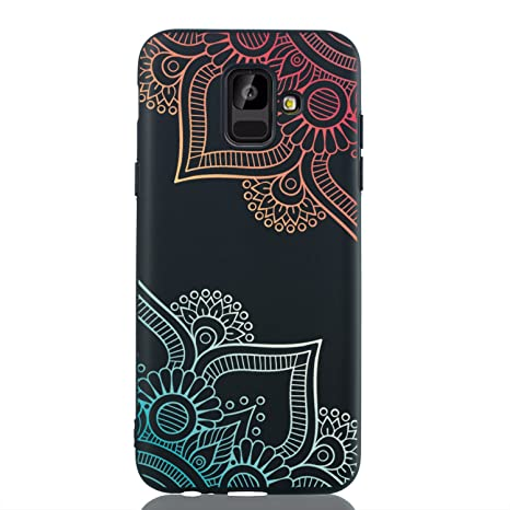 HopMore Funda para Samsung Galaxy A6 2018 Silicona Negro ...