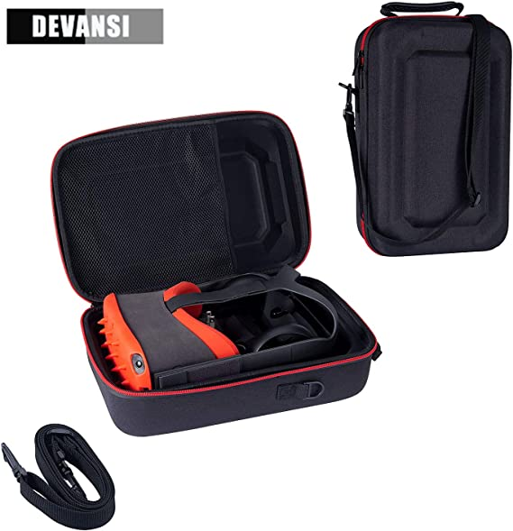 HIJIAO Hard Travel Case for Oculus Quest VR Gaming Headset and Controllers Accessories Waterproof Shockproof Carring case Blue