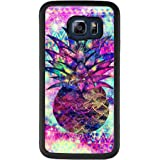 Case for Samsung Galaxy S6 edge Plus pineapple,ChyFS Phone Case ,PC and TPU Black protective Case