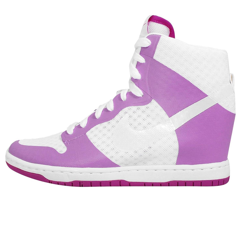 Nike Women's Dunk Sky HI 2.0 BR Wedge Sneaker, White/Fuchsia Glow