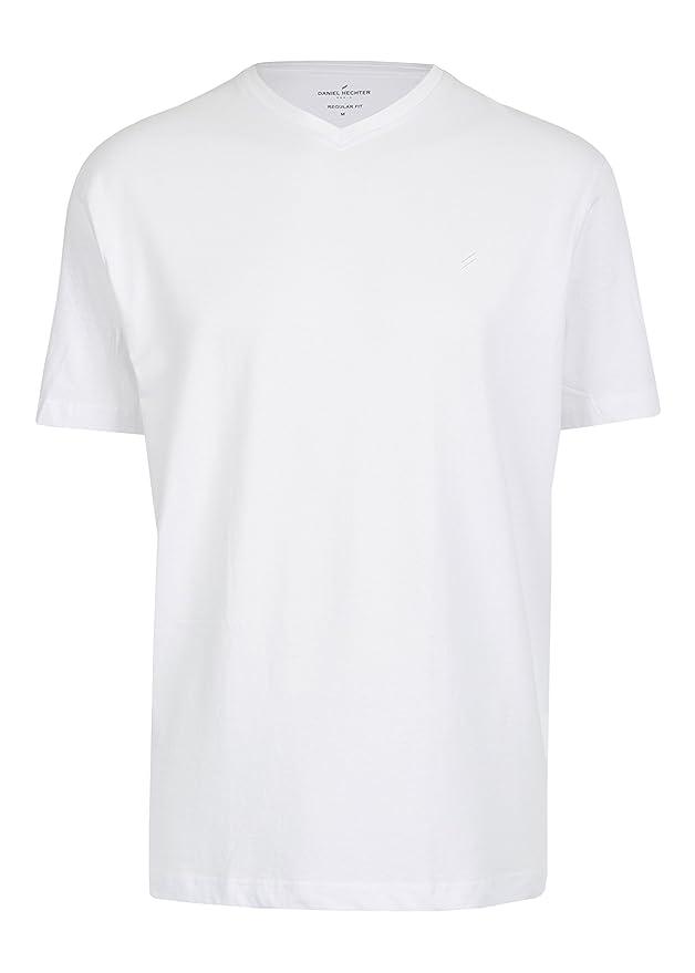 Daniel Hechter - Regular Fit - Doppelpack Herren Kurzarm T-Shirt V-Neck/ V- Auschnitt in weiß oder schwarz, S-3XL (472 10284): Amazon.de: Bekleidung