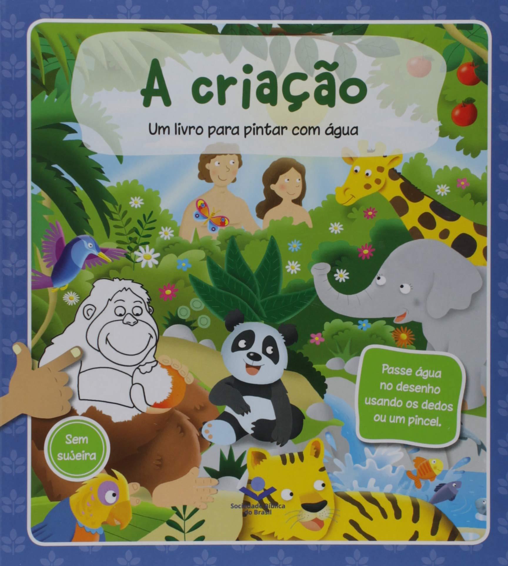 Um Livro Para Pintar Com Agua A Criacao 9788531116469 Livros
