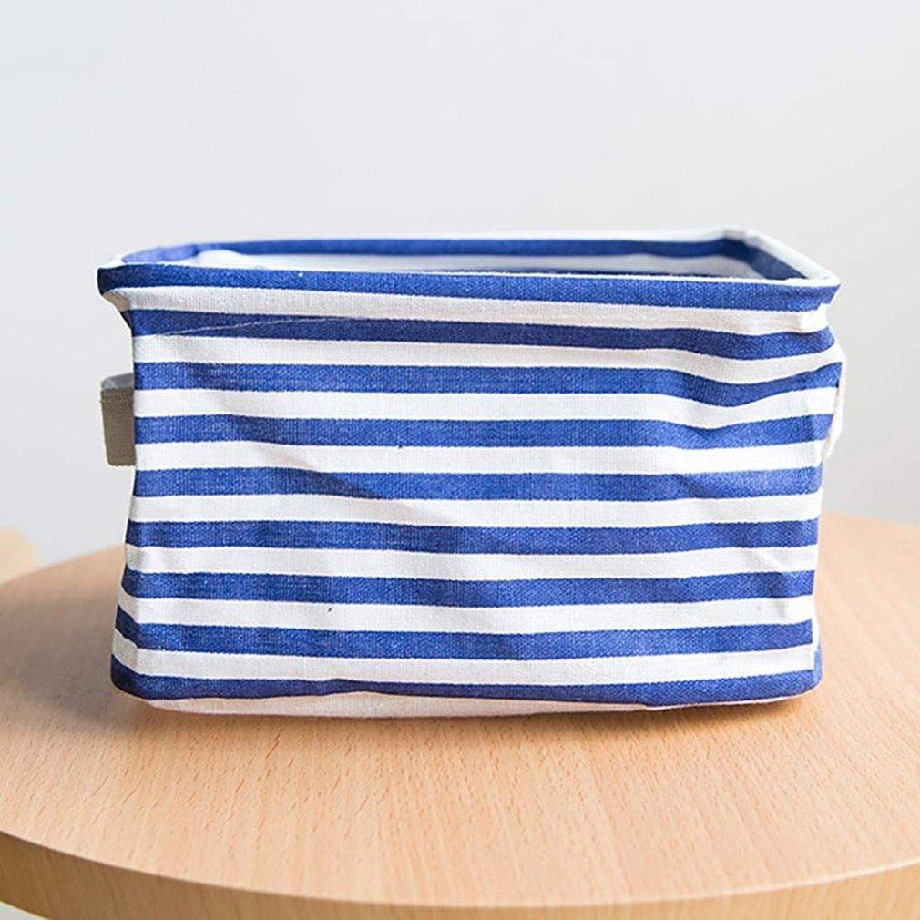 Huayue Gro/ße Kapazit/ät Make-up Kleidung Decke Baumwolle und Leinen Organizer Aufbewahrungstasche Box Korb