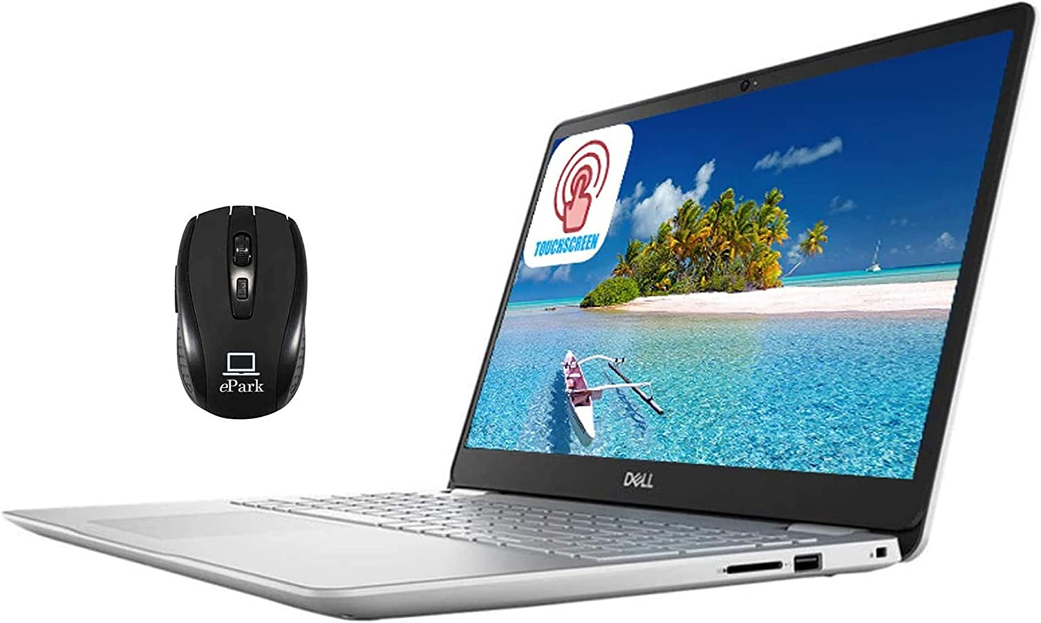 "2020 Dell Inspiron 15 5000 5584 Laptop, 15.6"" FHD Touchscreen, Intel Core i7-8565U 8GB RAM 256GB PCIe SSD 16GB Optane, MaxxAudio Pro Backlit KB Fingerprint Win 10 + ePark Wireless Mouse"