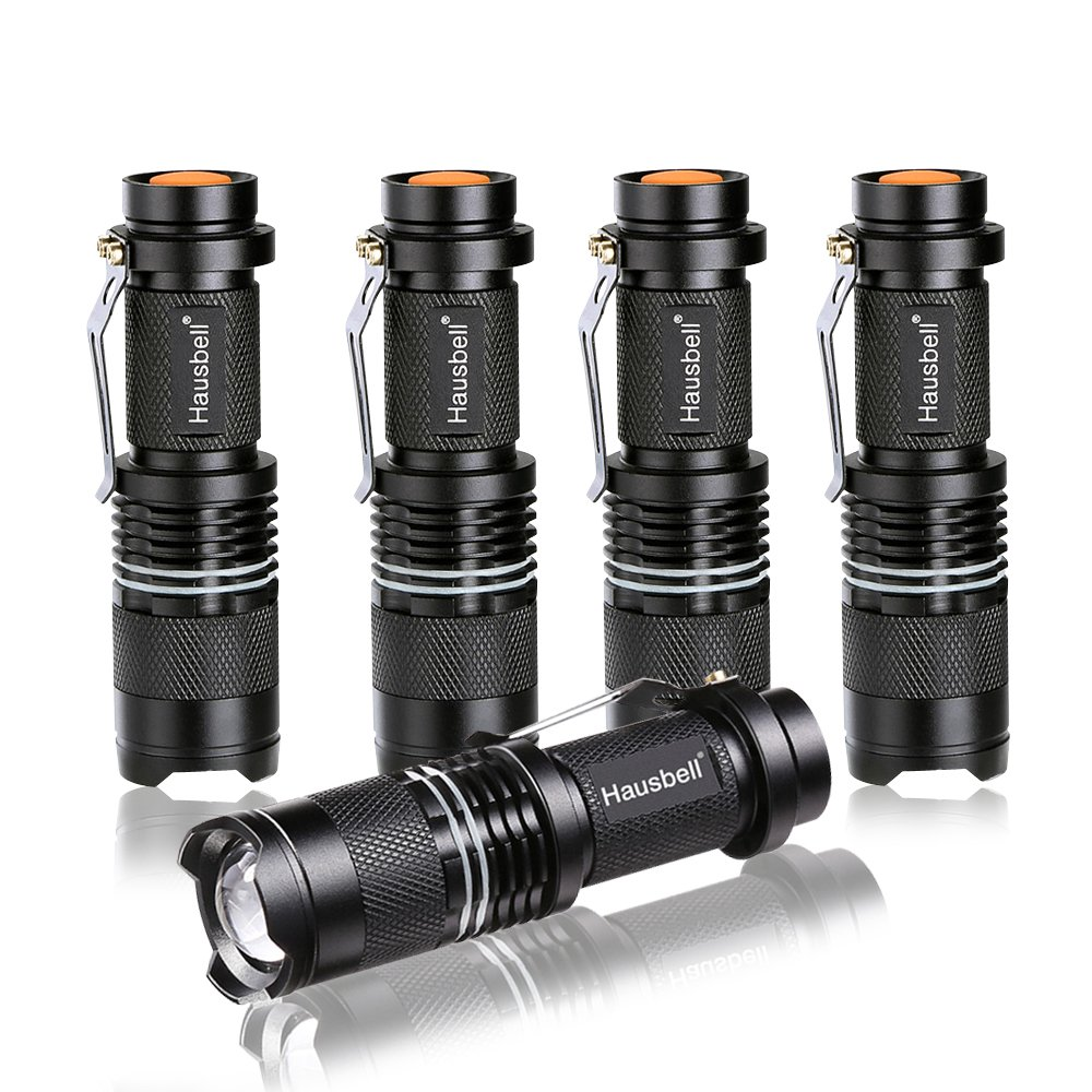 Hausbell 7W Ultra Bright Mini LED Flashlight (5Pack)