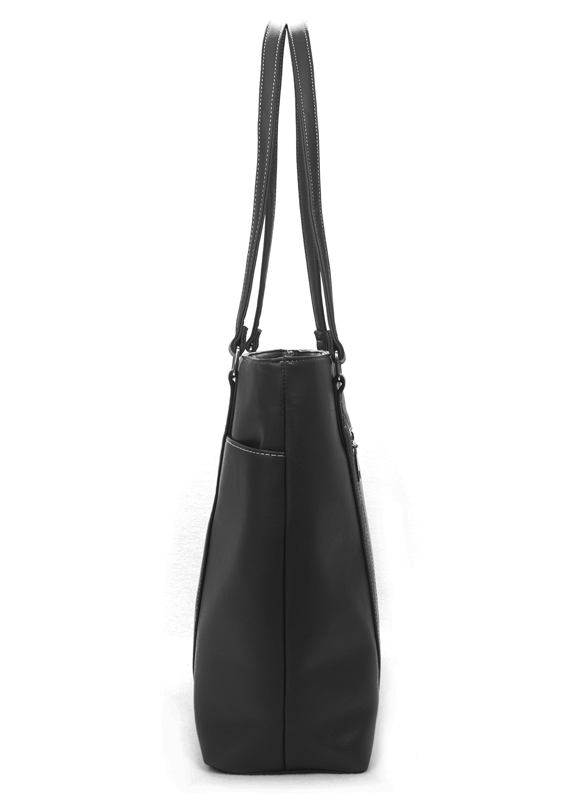 Overbrooke Classic Womens Tote Bag for Laptops  up to 15.6 Inches, Black by Overbrooke (Image #2)
