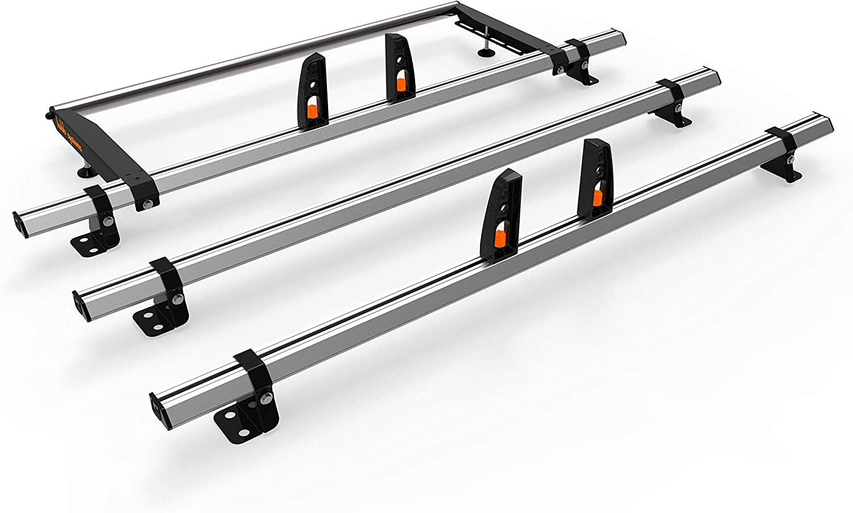 Roof Rails Set FORD TRANSIT CUSTOM SWB Aluminium Roof Bars BLACK 2013-2019