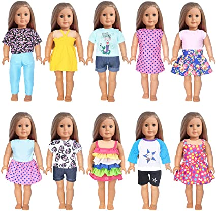 5 Set Random Style Doll Clothes Outfit FOR 18 inch American Girl Handmade Dress