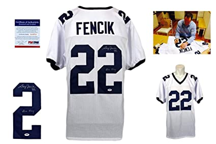 9110741996c Autographed Gary Fencik Jersey - White ITP Yale Bulldogs - PSA/DNA  Certified - Autographed