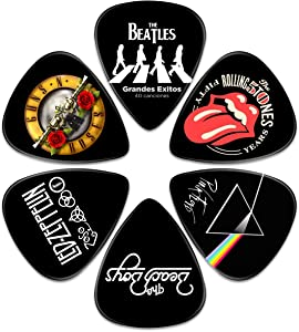 Guitar Picks – Surmoler 6 Pack Universal Plastic Guitar Picks for Acoustic and Electric Guitar (My favorite band)