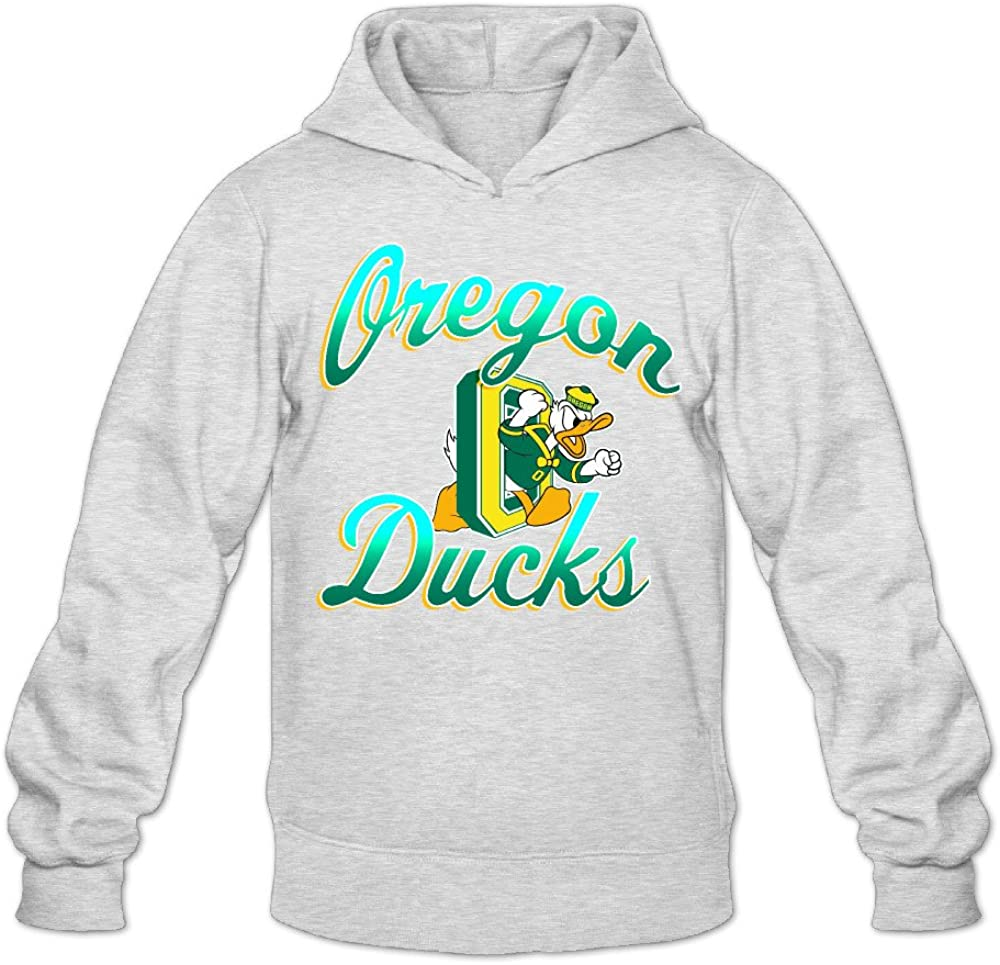 Radyk56rtyh Mens Oregon Ducks 100/% Cotton Long Sleeve Hooded Sweatshirt