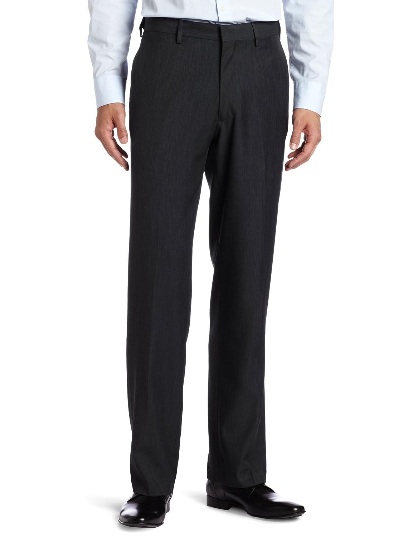 Haggar Men's Flex Gab Plain-Front Expandable Waistband Straight-Fit Dress Pant