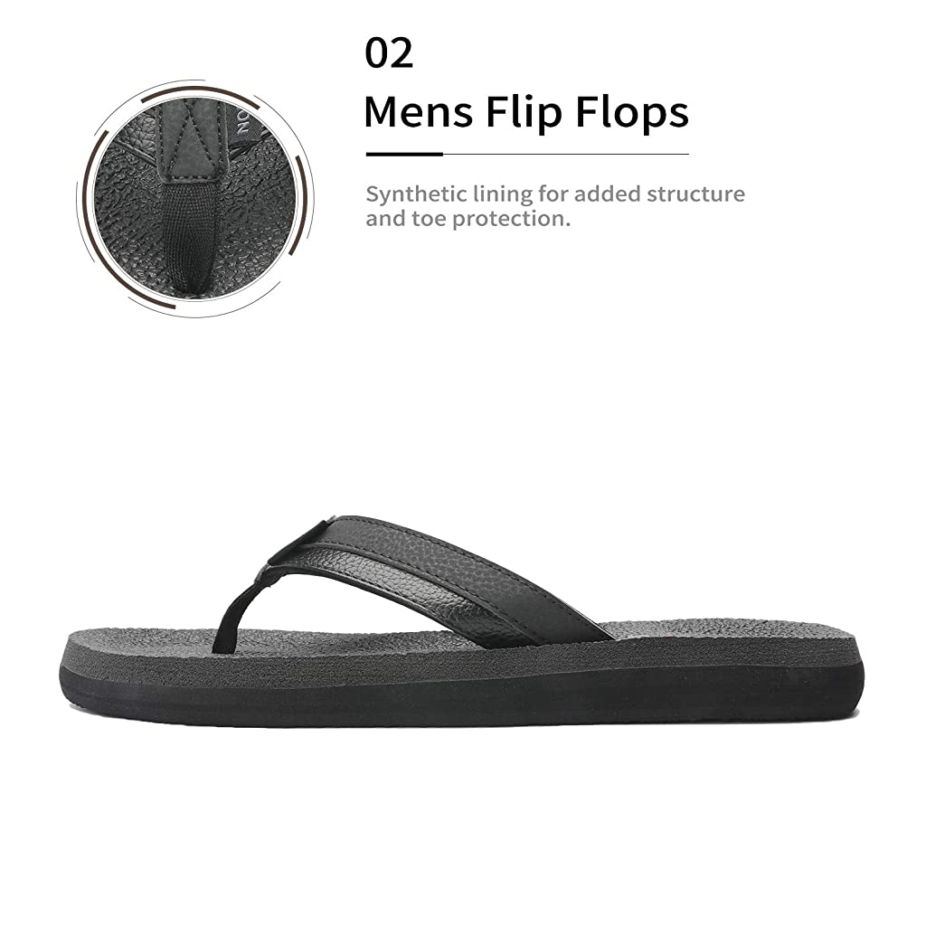 NORTIV 8 Men/'s Slide Sandals Comfort Lightweight Beach Shoes