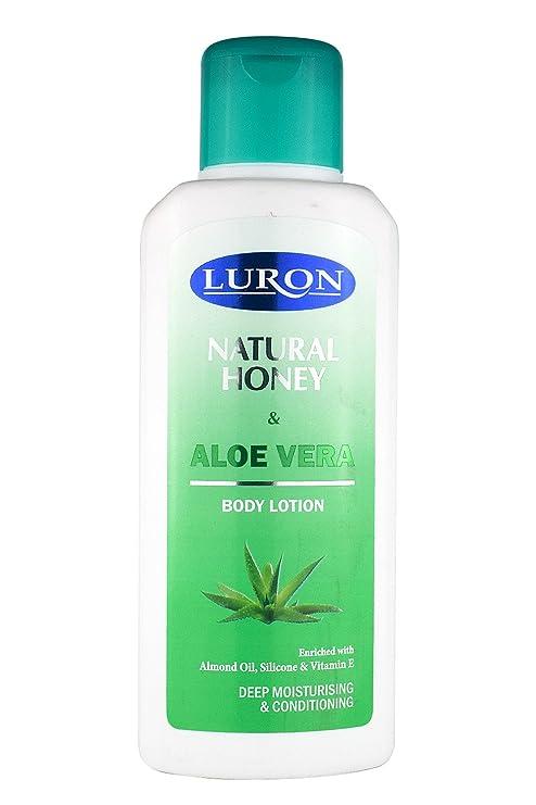 Luron Loción Natural de Miel y Aloe Vera - Enriquecida con Miel, Aceite de Almendras
