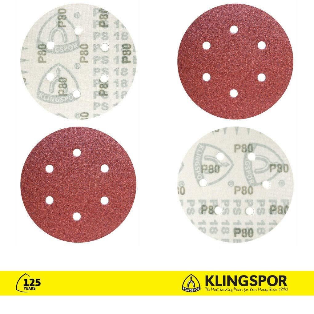 10 x 150mm Sanding Discs Sandpaper 6 Holes Pads GLS3 Grit 320