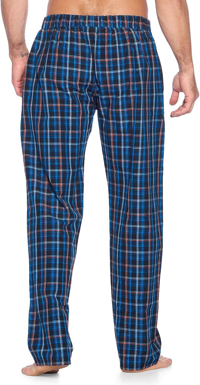 Ashford /& Brooks Men/'s Short Sleeve Pajamas Shorts Set Woven Plaid Sleepwear /& Loungewear Button Down PJ Boxer Set