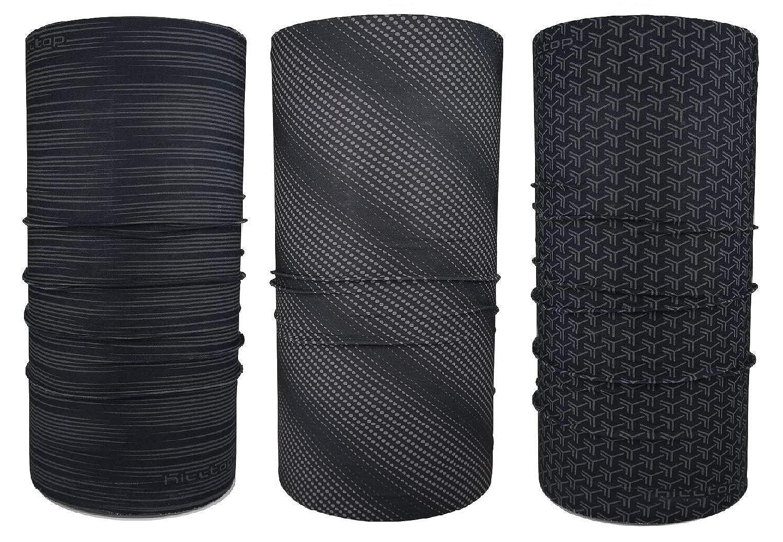 Hilltop 3er Set Multifunktionstuch Schlauchschal Damen Halstuch Herren Bandana mit vern/ähten Saumkanten in den neuesten Designs Schlauchtuch