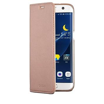 size 40 e3f96 100e3 CASEZA Galaxy S7 Edge PU Leather Flip Case