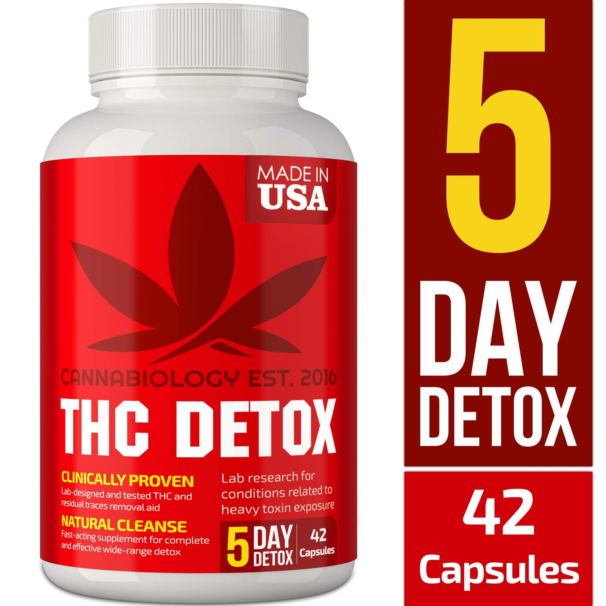 THC Detox Made in USA - BIO-Cleanse - Liver Detox, Urinary Tract & Kidney Cleanse - 5 Day Detox - Broad-Spectrum Toxin Cleanse - Natural THC Remover - Milk Thistle, Cranberry - Vegetarian Capsules by Cannabiology Est. 2016
