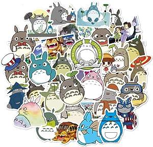 Ratgoo 50Pcs Cute Cartoon Waterproof Vinly Totoro Animals Decals Stickers Pack to Kids Teens Boys Girls for Laptop MacBook Skateboard Toddlers Flasks Motorcycle Bike Car Luggage Bumper Room Wall.