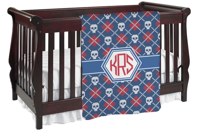 ニットアーガイル& Skulls Baby Blanket (Personalized) Baby Blanket レッド (Personalized) mi-baby-blanket-fb+271505 Blanket Baby 両面 B01KIOQ49S, プロアクティブ オンラインShop:e502ebf7 --- alumnibooster.club