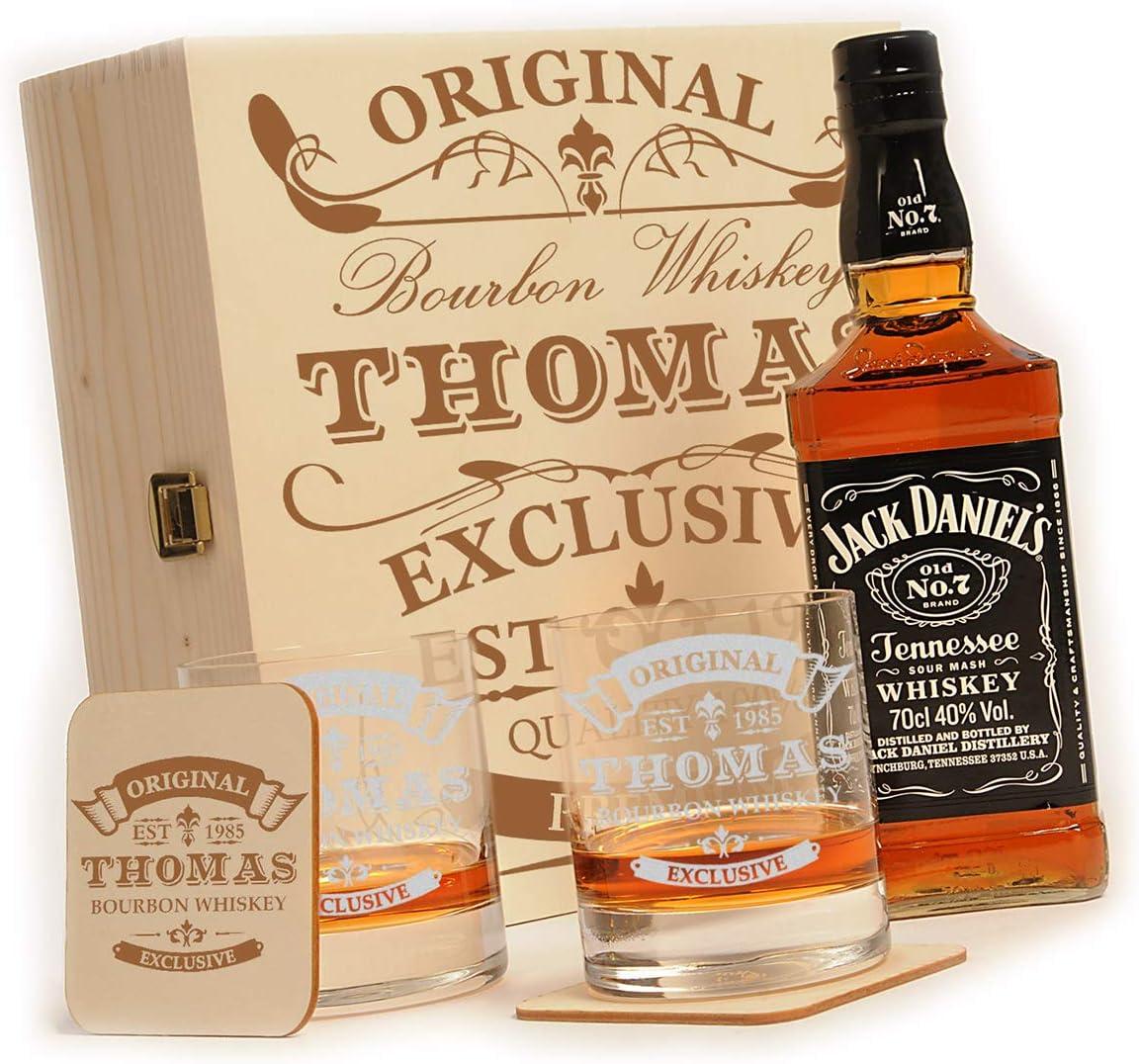 Jack Daniels Set in Holzbox