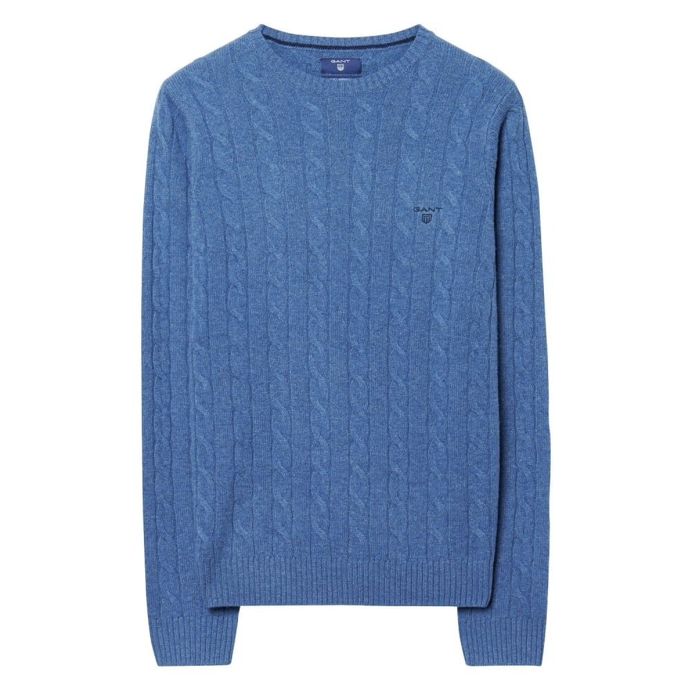 GANT Lambswool Cable Mens Crew AW16