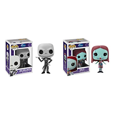 "Funko Jack Skellington & Sally Nightmare Before Christmas 3.75"" POP Figure Bundle: Toys & Games"