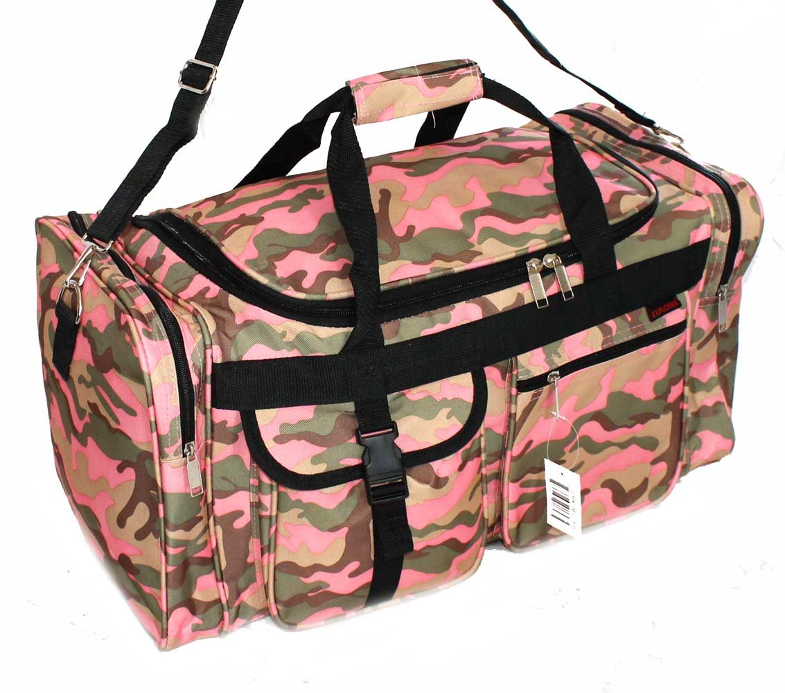 Amazon 22 Ladies Pink Camo Carry On Duffle Bag Light Gear Or Range Sports Outdoors