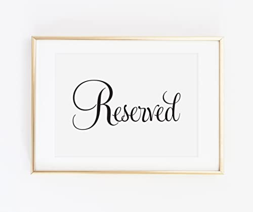 various colors recognized brands cheapest Amazon.com: Reserved Signs for Wedding, Wedding Reserved ...