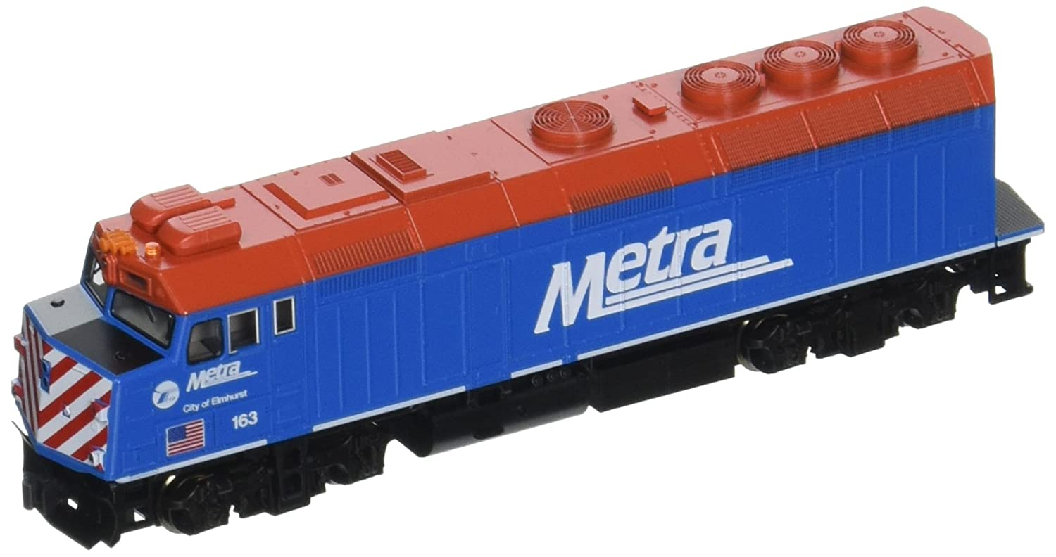 Kato USA Model Train Products EMD F40PH #163 Chicago Metra City of Elmhurst N Scale Train Kato Trains 176-9103