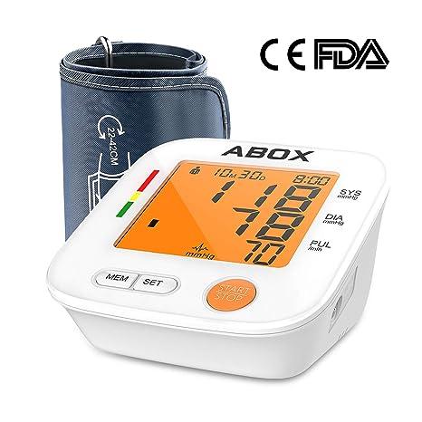 Medidor de presión digital de brazo, Tensiómetro automático profesional, grande pantalla LCD 2 *
