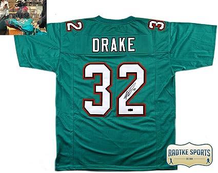 dbd53730 Kenyan Drake Autographed/Signed Miami Custom Jersey at Amazon's ...