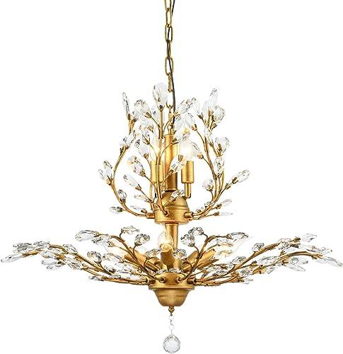 Garwarm 8-Light Vintage Crystal Chandeliers Ceiling Lights LED Light Crystal Pendant Lighting Ceiling Light Fixtures Chandeliers Lighting - the best living room chandelier for the money
