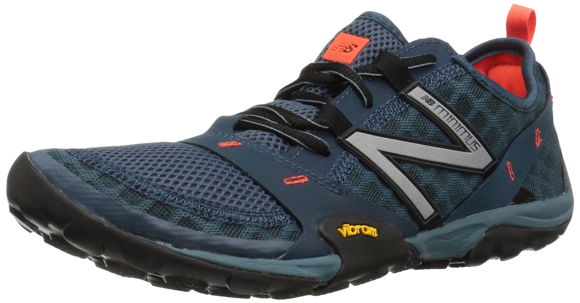 New Balance Men's MT10V1 Minimus Trail Running Shoe, Grey/Orange, 10.5 D US