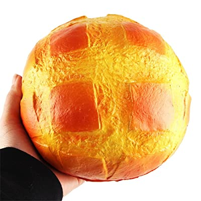 Hisoul Hot ???? Scented Squishy Toys, Soft Creative Colossal Pineapple Bun Squeeze Super Slow Rising Decompression Toy, for Collection Gift, Decorative Props Large or Stress Relieve (Yellow): Toys & Games