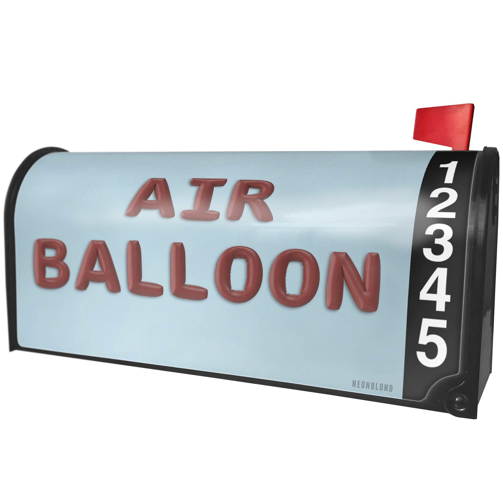 NEONBLOND Air Balloon Party Balloon Magnetic Mailbox Cover Custom Numbers