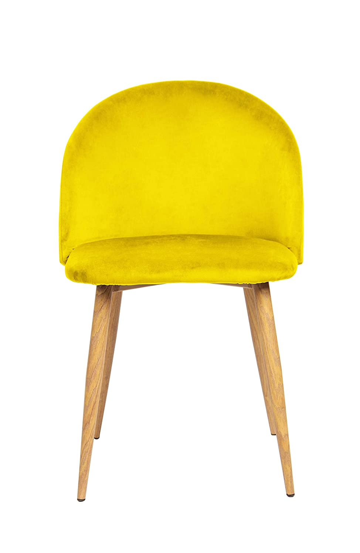 Giallo Velluto La sedia spagnola pedraza sedia per sala da pranzo in Stile Vintage 46/x 47/x 77/cm